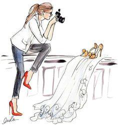 The Sketch Book – Inslee Haynes / Fashion Illustration by Inslee Fashion Job, Arte Fashion, Moda Fashion, Trendy Fashion, Ideias Fashion, Fashion Design, Fashion Shoes, Art And Illustration, Camera Illustration