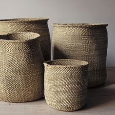 These beautifully handcrafted Tanzanian baskets are woven from milulu grass. As they age, their colour changes form a greenish hue to beige. If needed they can we reshaped with a slight vaporizing .Vintage French Soul ~ natural iringa baskets @ home Basket Weaving, Hand Weaving, Deco Boheme Chic, Home Decoracion, Balinese, Sisal, Wabi Sabi, Wicker Baskets, Woven Baskets