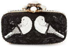 Love this: OSCAR DE LA RENTA Sequin Embellished Clutch @Lyst SOCIALITE ~~DRESSMESWEETIEDARLING