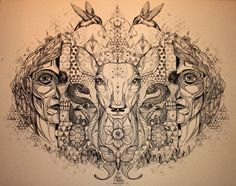 Song of the White Deer - Artwork by David Hale