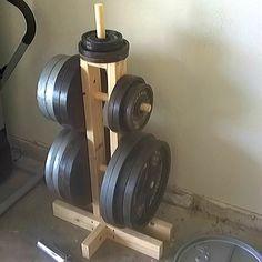 Home Made Gym, Diy Home Gym, Home Gym Decor, Home Gym Basement, Home Gym Garage, Gym Room At Home, Homemade Gym Equipment, Diy Gym Equipment, Diy Plate Rack