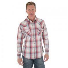 Cinch Mens Coral Plaid Shirt | Pins for that man of mine ...