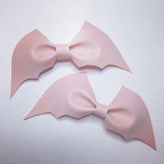 pastel pink bat bow