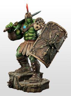 Estátua Sideshow Collectibles Hulk Gladiador Premium Format ~ SuperVault