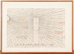 "Shusaku Arakawa (Japanese, 1936-2010) The Signified or if No. 3, engraving, signed. Frame: 32"" x 44"" (81 x 112 cm) sight: 23.5"" x 38"" (60 x 97 cm)"