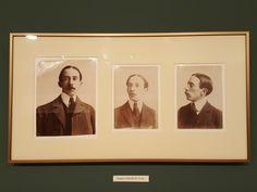 10 December 2016 (18:31) / Santos-Dumont portraits on the SANTOS-DUMONT exhibition at Itaú Cultural, São Paulo City.