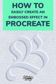 In this tutorial, I will teach you how to create an embossed text effect in procreate. Learn how to emboss your text, lettering, calligraphy, and even illustrations. I will guide you through this whole process step-by-step. If you like iPad lettering, this is a super easy tutorial you can try out. Hand Lettering 101, Hand Lettering Tutorial, Hand Lettering Alphabet, Creative Lettering, Brush Lettering, Calligraphy Tutorial, Calligraphy Fonts, Pen And Paper, Book Design