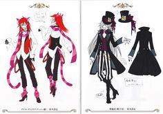 Shinigami  Grell Sutcliff as Cheshire Cat. Undertaker as Mad Hatter
