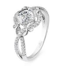 Fine Rings Diamond Able Diamond Ring Solitaire Accented Colorless 18k White Gold 1.45 Ct Size 4 1/2-9 Products Hot Sale