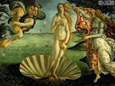 Wallpaper of Birth of Venus by Boticelli for fans of Fine Art.