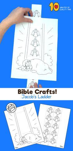Bible Crafts - Jacob's Ladder Bible Activities For Kids, Bible Stories For Kids, Bible Crafts For Kids, Preschool Bible, Bible Lessons For Kids, Prayer Crafts, Bible Story Crafts, Sunday School Lessons, Sunday School Crafts