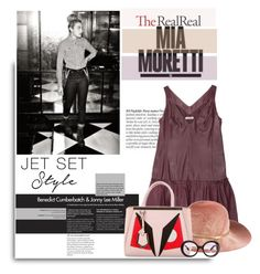 """Jet Set Style With DJ Mia Moretti & The RealReal: Contest Entry"" by sportsonista ❤ liked on Polyvore featuring Nina Ricci, Eugenia Kim, Fendi and Prada"