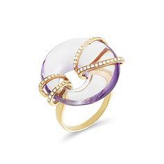 Alo diamonds - modern and delicate All About Fashion, Pink And Gold, Heart Ring, Amethyst, Vogue, Bracelets, Pretty, Rings, Delicate