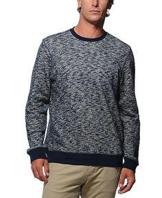 Obey 'Warner' Navy Crew Neck Sweatshirt