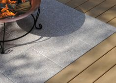 Deckorators Deck Stones so you can put a portable fire pit right on the deck.  Awesome!