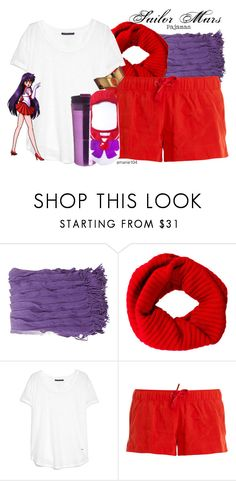 """Sailor Mars (Pajamas)"" by amarie104 ❤ liked on Polyvore featuring Burberry, Violeta by Mango, adidas and bubba."