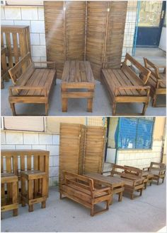 If you have been planning to arrange a outdoor restaurant or the food corner then settling it with the idea of the wood pallet couch sets and table is much a favorable option for you. This wood pallet creation is designed in terms of simple and plain styles that turns out to be much sophisticated looking for the coming peoples in your restaurants.