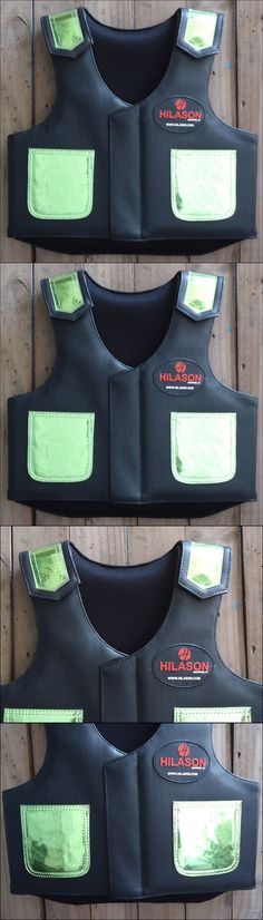 Other Protective Gear 87446: Pv808yf Hilason Kids Junior Youth Horse Riding Pro Rodeo Leather Protective Vest -> BUY IT NOW ONLY: $94.95 on eBay!