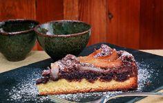 Sobremesa: Doce de chocolate, pera e amêndoa