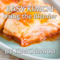 Great Napa Cabbage Kimchi recipe with the seasoning made in the blender. Easy and simple to make but with authentic flavors. food videos Easy Kimchi Recipe Using the Blender Salmon Recipes, Asian Recipes, Napa Cabbage Recipes, Fermentation Recipes, Homebrew Recipes, Beer Recipes, Korean Kitchen, Vegetarian Recipes, Cooking Recipes
