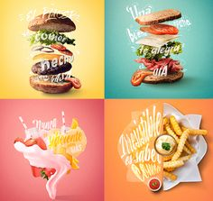 Design Hunt: Food for everyone - ads Food Graphic Design, Food Poster Design, Creative Poster Design, Ads Creative, Creative Posters, Menu Design, Ad Design, Banner Design, Graphic Design Inspiration