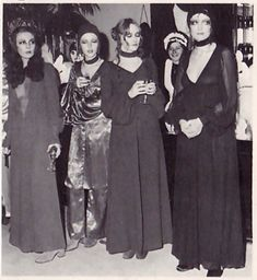 Press launch party for the Biba make-up range, Kensington High Street, April 1970. Image scanned by Sweet Jane From A To Biba by Barbara Hulanicki.