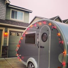 1000 images about rv decorations on pinterest awning for Airstream christmas decoration
