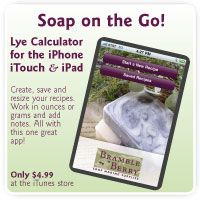 Bramble Berry's Lye Calculator App makes creating Soap recipes quick and easy. and available online also