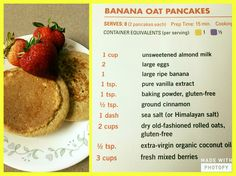Fixate pancakes more. find this pin and more on 21 day fix 21 Day Fix Fixate, 21 Day Fixate Recipes, 21 Day Fix Diet, 21 Day Fix Meal Plan, Vegan Recipes, Fixate Cookbook, Cookbook Recipes, 21 Day Fix Breakfast, Beachbody 21 Day Fix