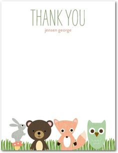 Thank you cards to match your birth announcements!