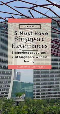 Asia, Singapore - Its tropical, its exotic, its Singapore. Discover the TOP 5 things you must to on your next Singapore trip. Singapore Travel Tips, Singapore Sling, Visit Singapore, Singapore Malaysia, Singapore Trip, Singapore Itinerary, Wanderlust Singapore, Malaysia Trip, Malaysia Travel