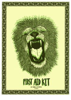 First Aid Kit by Adrian Dutt. See more great gig posters here: http://www.creativebloq.com/design/gig-posters-912720