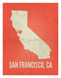 San Francisco CA Love Print 11 x 14 by amycnelson on Etsy, $32.99