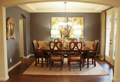 Wall color may be similar to Folkstone 6005 from Sherwin-Williams or Sherwin's Attitude Gray/7060 for a similar shade.