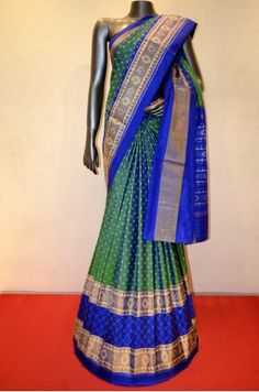 Classic Patola Silk Saree With A Gorgeous Ikat Grand Zari Border Product Code: AC205204