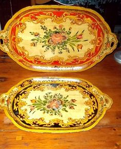 Antique Japanese Paper Mache Trays 2 Beautiful C 1920 30s | eBay