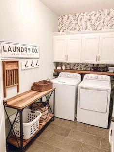 Tiny Laundry Rooms, Laundry Room Remodel, Laundry Decor, Laundry Room Organization, Laundry Room Design, Organization Ideas, Laundry Table, Laundry Closet, Storage Ideas