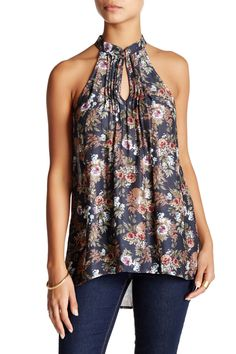 Sleeveless Printed Hi-Lo Blouse by Ro & De on @nordstrom_rack