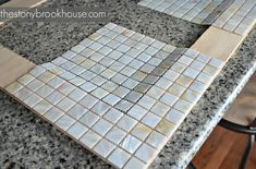 The Stonybrook House: How To Make A Custom Tiled Mirror Diy Mirror Frame Bathroom, Tiled Mirror, Mosaic Diy, Paint Colors For Living Room, Diy Frame, Diy Home Improvement, Decoration, Bathrooms, Bathroom Things
