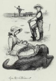 So sweet :) maybe I should be an illustrator? (GARTH WILLIAMS. The First Four Years by Laura Ingalls Wilder)