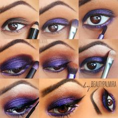 Purple Eye Shadow Step by Step - Fashion, Makeup & Nails Picture