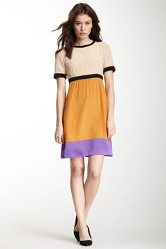 M Missoni Colorblock Cutout Back Silk Dress by M Missoni, HUGO BOSS & More on @HauteLook -  LOVE This Color Block!!