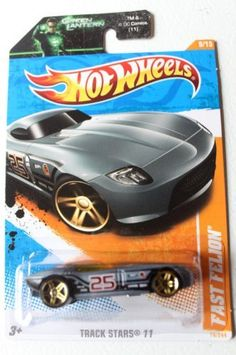 """Hot Wheels 2011 '' FAST FELION RACING CAR"""" TRACK STARS '11 - 9 of 15 - 74/244 Grey & Black with #25 Racing Decal on Doors by Mattel/Hot Wheels. $0.01. This sale is for a Hot Wheels 2011 Track Stars Fast Felion"""