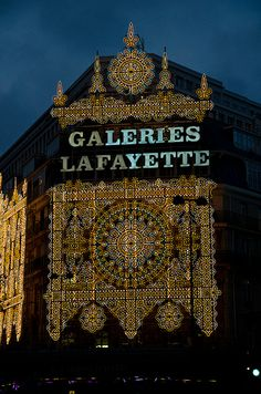 Illuminations de Noël aux Galeries Lafayette