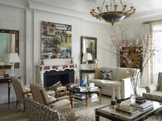 An inspiring mix of old and new in this eclectic and luxurious living room