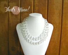 Clear+lucite+statement+necklace+crystal+clear+by+ThatsmineBoutique,+$47.00