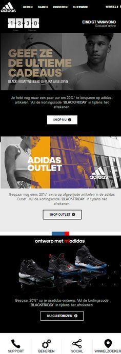 Adidas - Het aftellen van de Black Friday actie is begonnen bij Adidas.