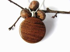 Wooden Pendant Mesquite Wood Necklace Jewelry by by Hendywood, $18.00