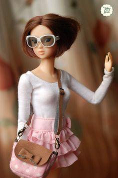 Momoko doll Handmade Mini Peony Fabric Bags by YlangGarden
