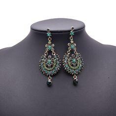 3.58€  - Green New Arrival Fashion Statement Crytsal Gem Good Earring Stud Women 9514 - Best Lady Jewelry Store